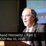 David Horowitz at UCSD [May 10 2010]